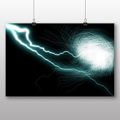 Big Box Art Abstract Lightening No.1 Graphic Art Wrapped on Canvas