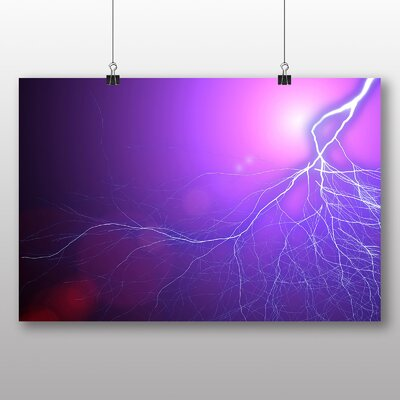 Big Box Art Abstract Lightening No.4 Graphic Art