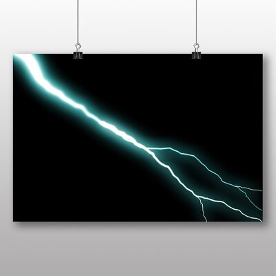 Big Box Art Abstract Lightening No.3 Graphic Art Wrapped on Canvas