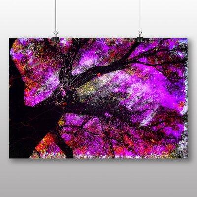 Big Box Art Abstract Purple Tree Graphic Art