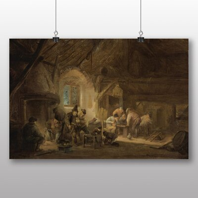 Big Box Art 'Rustic Interior' by Adriaen Van Ostade Art Print