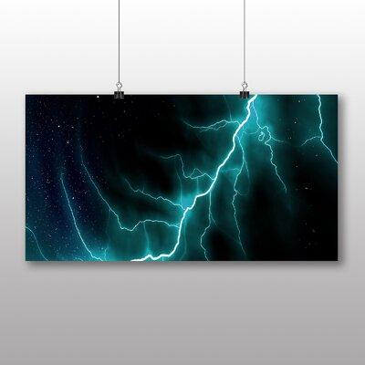 Big Box Art Abstract Lightening No.7 Graphic Art