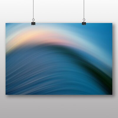 Big Box Art Abstract Wave Sea No.2 Graphic Art on Canvas