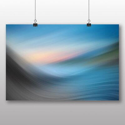 Big Box Art Abstract Wave Sea No.1 Graphic Art Wrapped on Canvas