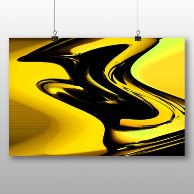 Big Box Art Abstract Graphic Art in Yellow