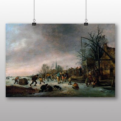 Big Box Art 'Landscape Winter Time' by Adriaen Van Ostade Art Print