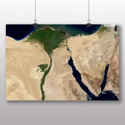 Big Box Art Aerial View Egypt Graphic Art Wrapped on Canvas