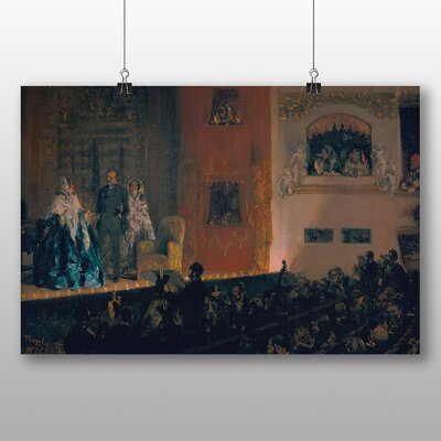 Big Box Art 'Theatre in Paris' by Adolph Menzel Art Print