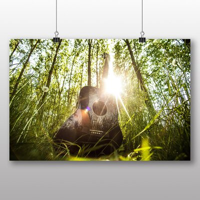 Big Box Art Acoustic Guitar Photographic Print Wrapped on Canvas