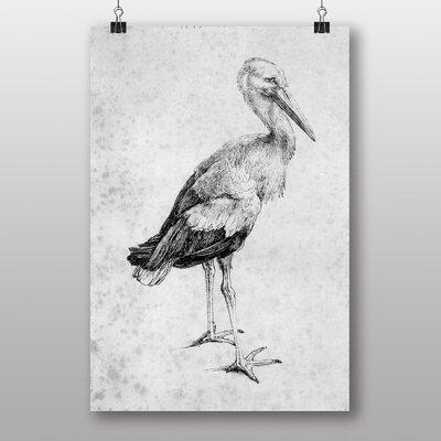 Big Box Art 'Stork' by Albrecht Durer Art Print