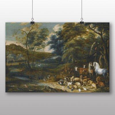 Big Box Art 'Landscape with Animals' by Adriaen Van Ostade Art Print
