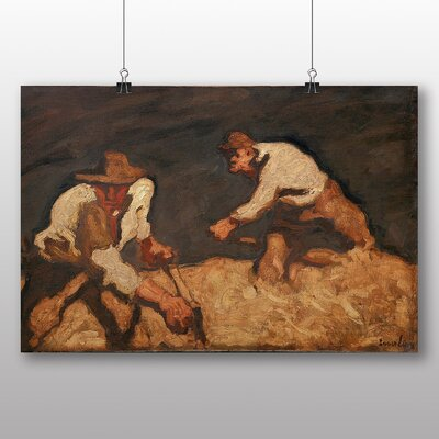 Big Box Art 'Reapers in a Gathering Storm' by Albin Egger-Lienz Art Print
