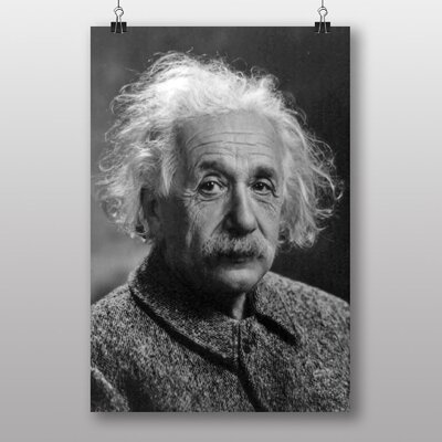 Big Box Art Albert Einstein No.2 Photographic Print on Canvas