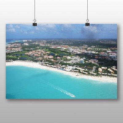 Big Box Art Aerial View Aruba Photographic Print