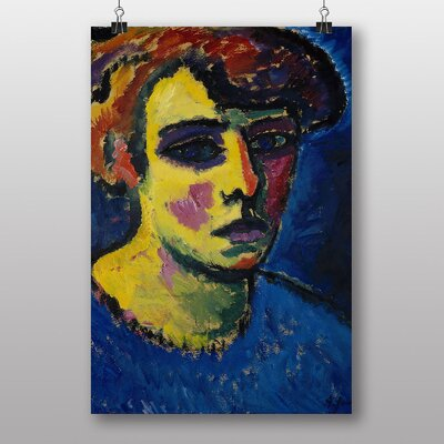 Big Box Art 'Head of a Woman' by Alexi Von Jawlensky Art Print