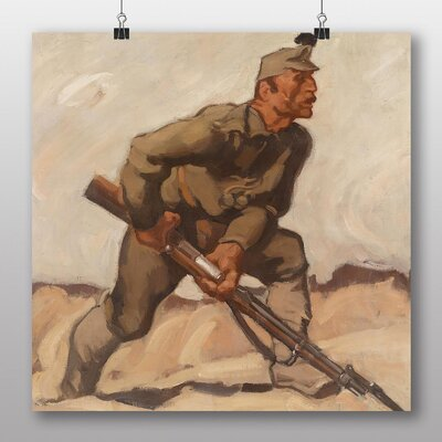 Big Box Art 'Lienz Soldier with Riffle' by Albin Egger Art Print