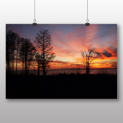 Big Box Art Alabama Sunset USA Photographic Print on Canvas
