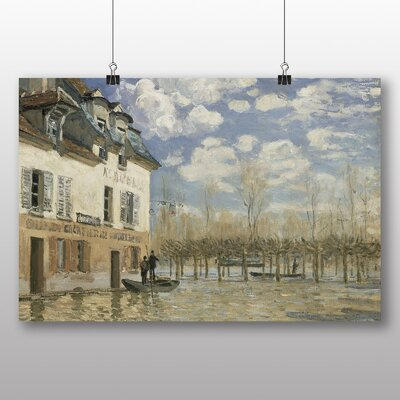 Big Box Art 'Boat in the Flood at Port Marly' by Alfred Sisley Art Print