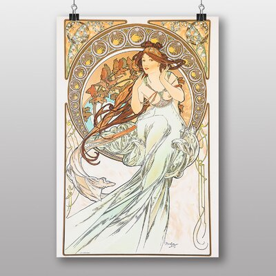 "Big Box Art ""Music"" by Alphonse Mucha Art Print"