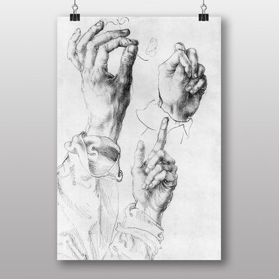 Big Box Art Study of Hands' by Albrecht Durer Graphic Art