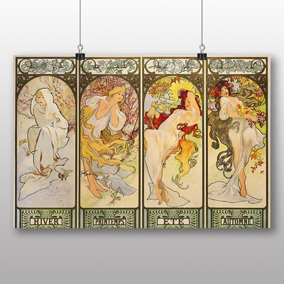 Big Box Art 'The Four Seasons No.1' by Alphonse Mucha Art Print