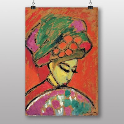 Big Box Art 'Young Girl with a Flowered Hat' by Alexi Von Jawlensky Art Print