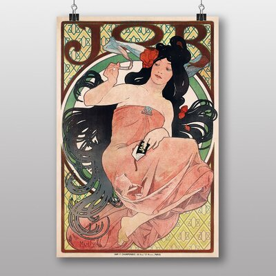 Big Box Art Job Rolling Papers by Alphonse Mucha Art Print