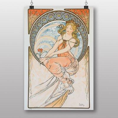 "Big Box Art ""Flower in Hand"" by Alphonse Mucha Art Print"