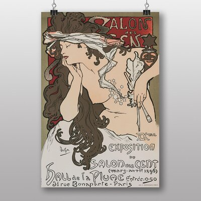 "Big Box Art ""Salon Des Cent No.2"" by Alphonse Mucha Vintage Advertisement"