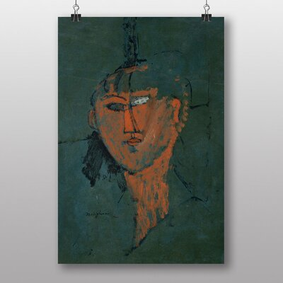 Big Box Art Testa Rossa by Amedeo Modigliani Art Print