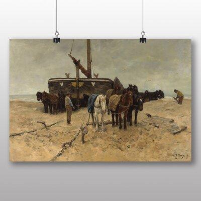 Big Box Art 'Fishing Boat on the Beach' by Anton Mauve Art Print