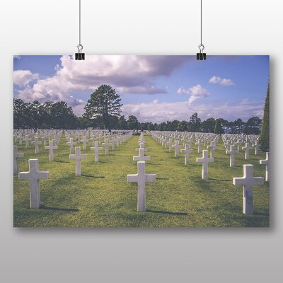 Big Box Art American Cemetery Normandy France Photographic Print on Canvas