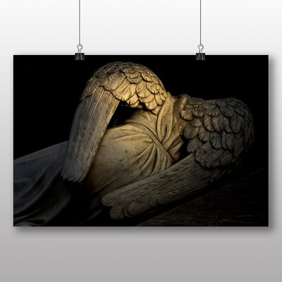 Big Box Art Angel Statue Photographic Print on Canvas