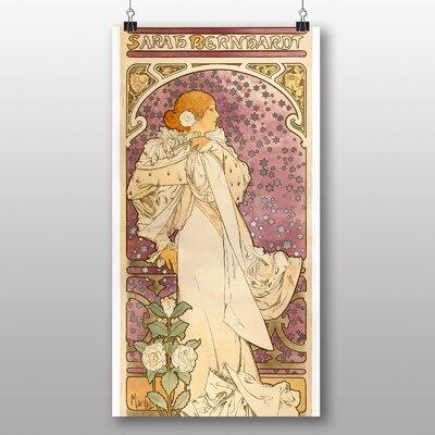 Big Box Art 'La Dame Aux Camelias' by Alphonse Mucha Art Print