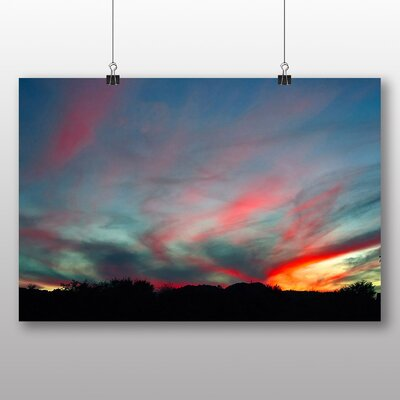 Big Box Art Arizona Sunset No.1 Photographic Print Wrapped on Canvas