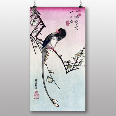 "Big Box Art ""Plum Blossom and Magpie Japanese Oriental "" by Ando Hiroshige Art Print"