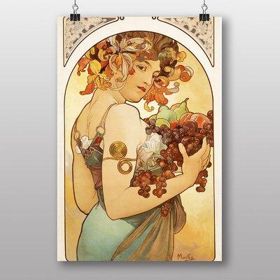 Big Box Art Fruit by Alphonse Mucha Art Print