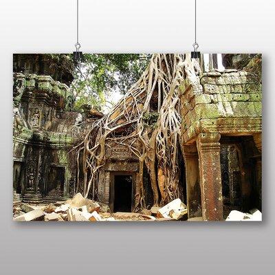 Big Box Art Angor Kat Cambodia No.1 Photographic Print Wrapped on Canvas