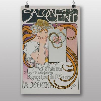 "Big Box Art ""Salon Des Cent No.1"" by Alphonse Mucha Vintage Advertisement"