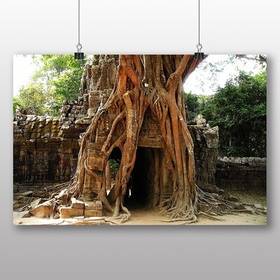 Big Box Art Angor Wat Cambodia Overgrown Photographic Print
