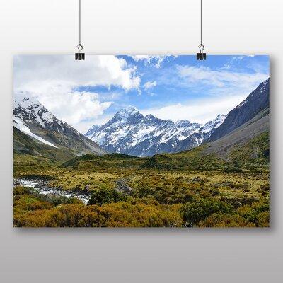 Big Box Art Aoraki Mountain Photographic Print Wrapped on Canvas