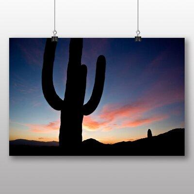 Big Box Art Arizona Sunset Cactus Photographic Print on Canvas