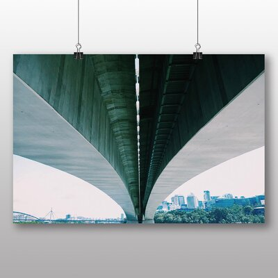 Big Box Art Architecture Photographic Print Wrapped on Canvas