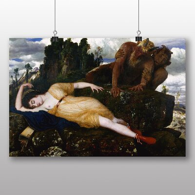 Big Box Art 'Sleeping Diana Watched by Two Fauns' by Arnold Bocklin Art Print