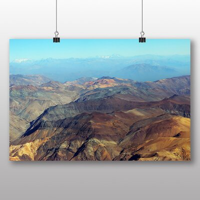 Big Box Art Andes Mountains Argentina Chile No.2 Photographic Print Wrapped on Canvas