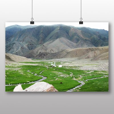 Big Box Art Altai Yurts Mongolia Photographic Print