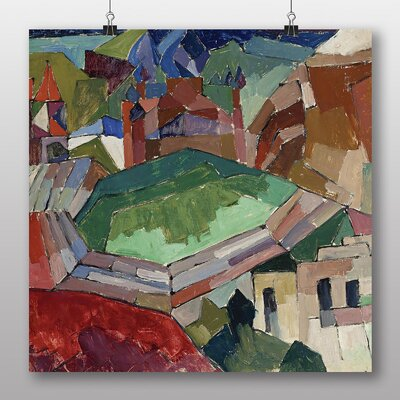 "Big Box Art ""Town in Russia"" by Aristarkh Lentulov Art Print on Canvas"