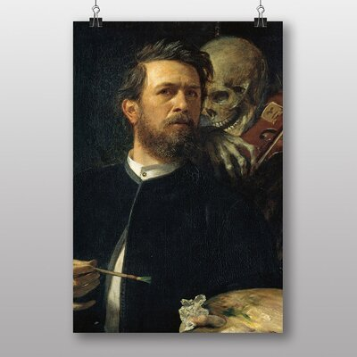 "Big Box Art ""Self Protrait, Death Playing the Fiddle"" by Arnold Bocklin Art Print"