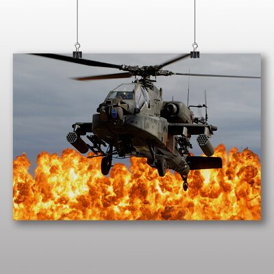 Big Box Art Army Military Helicopter No.4 Photographic Print Wrapped on Canvas