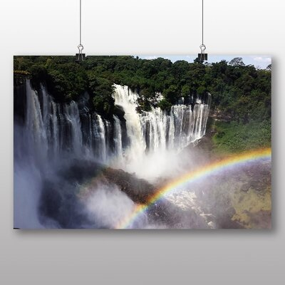 Big Box Art Angola Rainbow Waterfall Photographic Print Wrapped on Canvas